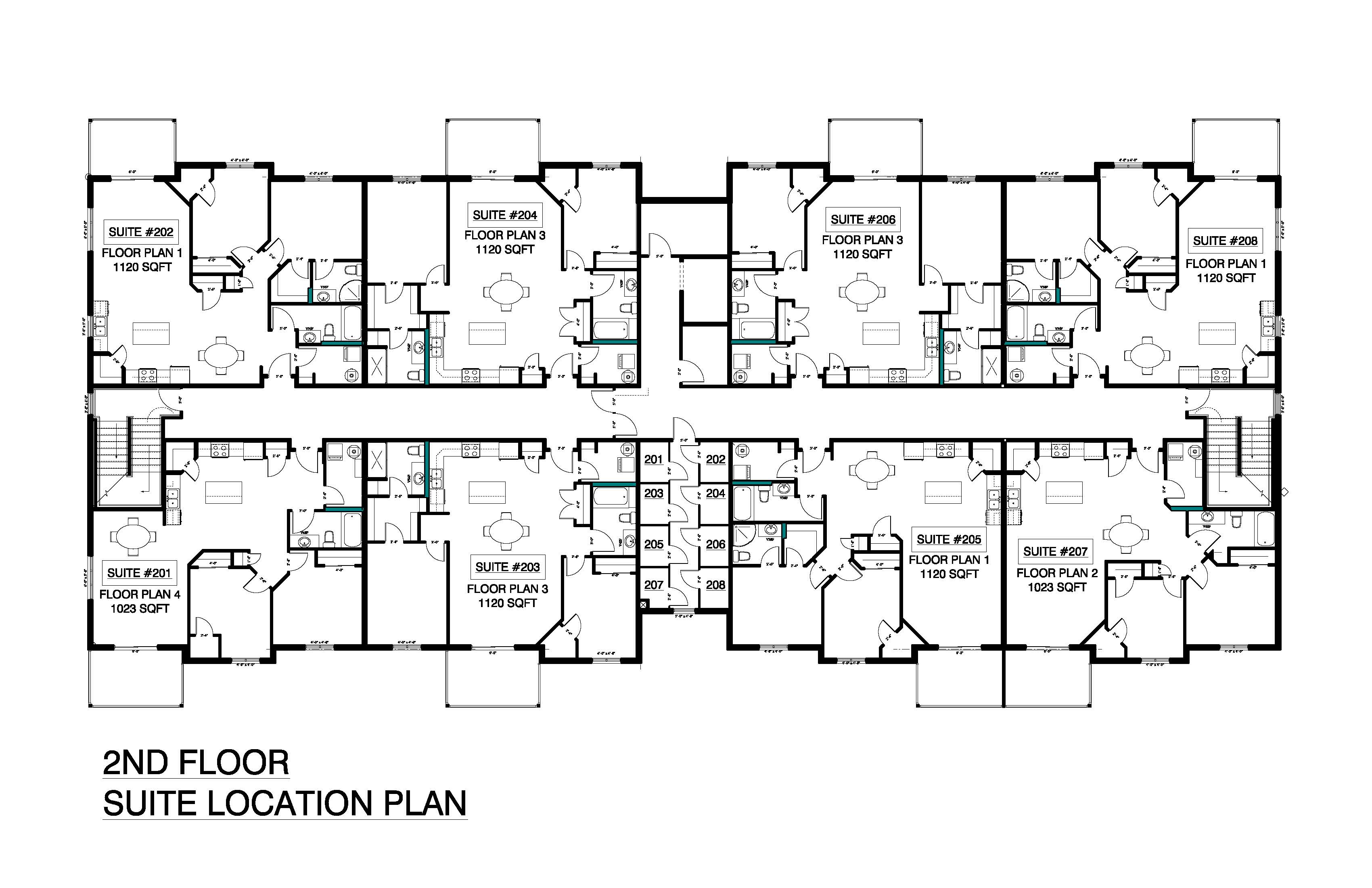 2nd Floor Suite Location Plan