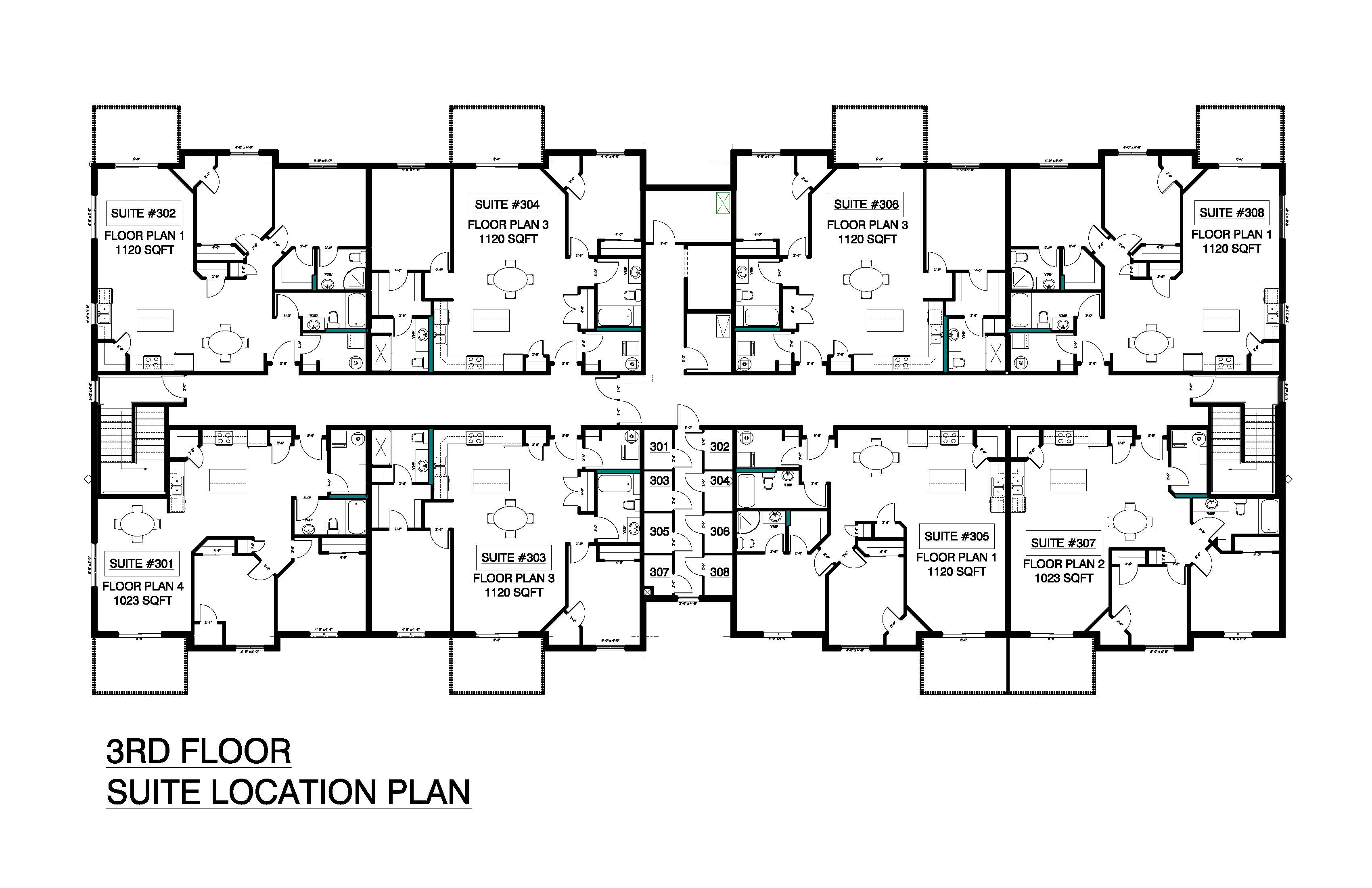 3rd Floor Suite Location Plan