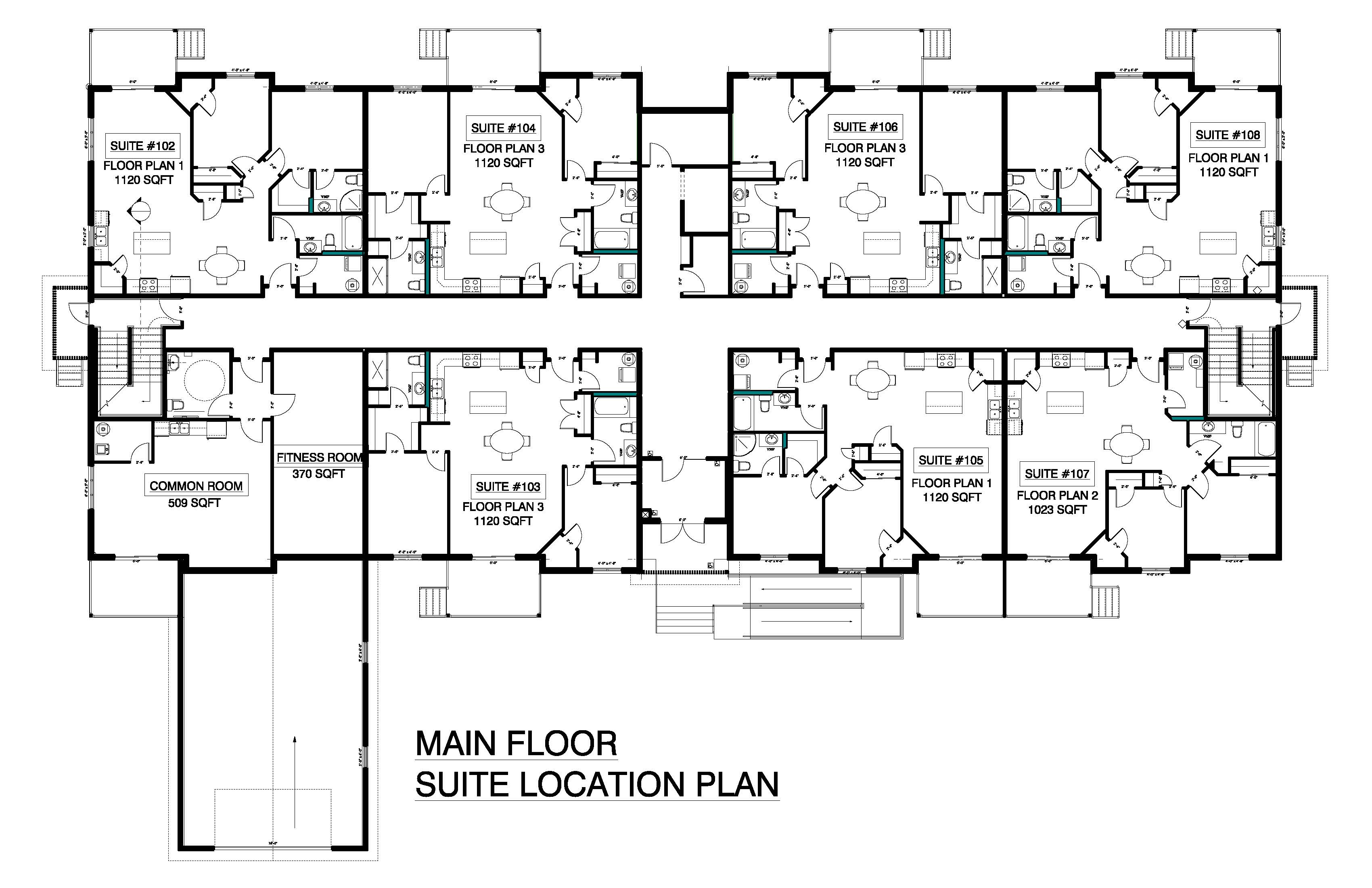 Main Floor Suite Location Plan